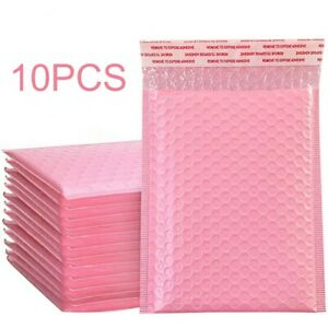 50pcs Pink Plastic Bubble Mailer Padded Envelope Shipping Packaging Bag Tool