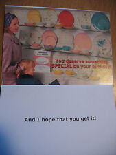 "Funny Comedy Humor Adult Birthday Card ""You Deserve Something Special On Your.."""