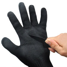 Safety Cut Proof Stab Resistant Stainless Steel Metal Mesh Butcher Glove Black