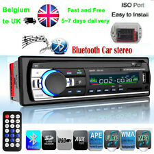 Car Radio Bluetooth Stereo MP3 Player 1 Din USB/SD/AUX/FM In-Dash Head Unit Ipad