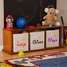 Toy Box Personalized Name Vinyl Sticker Decal For kids Bedroom Chest Storage N13