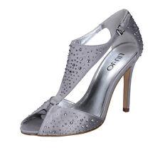 scarpe donna LIU JO 37 EU sandali argento raso strass BZ123-D