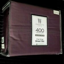New Purple 4-pc Wamsutta 400 Tc 100% Cotton Sateen California Cal King Sheet Set