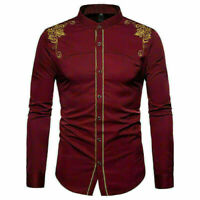 Blouse Luxury Mens Casual Shirts Slim Fit Long Sleeve Dress Shirts Tops Party