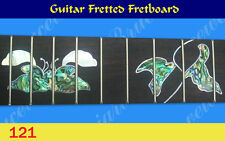 Free Shipping, Guitar Part - Fretted Rosewood Fretboard w/Abalone Inlay (G-121)