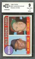 Gil Garrido / Tom House Rookie Card 1969 Topps #331 Atlanta Braves BGS BCCG 9