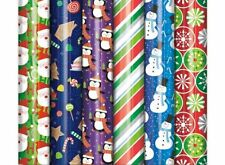 Bundle of 6 Rolls of Christmas Holiday Foil Gift Wrapping Paper, Juvenile...