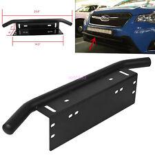 Stainless Steel Bull Bar Type Car SUV Bumper License Plate Work Lamp Bracket Kit