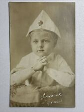 Beautiful Vintage Postcard Of Child In Costume