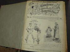 Münchner Humoristische Blätter J. 1901 Wochen-Beilage zum Neuen Münchener Merkur