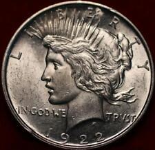 Uncirculated 1922-D Denver Mint Silver Peace Dollar