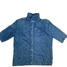 Vintage Cherokee Denim / Jean Short Sleeve Coat Jacket| Size XL | EUC| 17730🔥