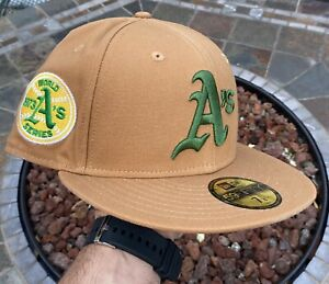 Hat Club Oakland A's Athletics Hat (7 1/8) Cowboy Pack 1973 World Series Patch