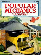 Science magazine cover populaire machanics hélicoptère garage future poster BB7352B