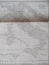 COPPER ENGRAVING ITALY SICILY SARDINIA & CORSICA COOKES GEOGRAPHY 1802