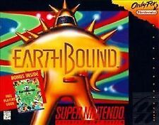 """EarthBound  (SNES, 1995) Complete CIB  """"For Display Only"""" Small Box copy + GUIDE"""