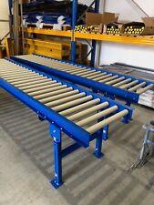 Roller Track conveyor 300mm width rollers 1000mm long on legs Brand new