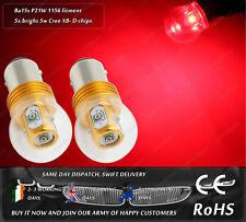 Cree LED BA15S P21W 1156 380 207 245 Red Stop Brake Rear Tail Light Bulbs 12-24V