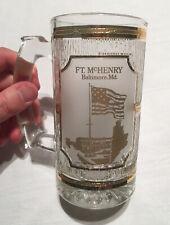 Vintage Collectible Culver 22k Gold Glass Ft. McHenry Baltimore Maryland Mug