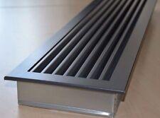 Stahl Lüftungsgitter Kamingitter Warm-Kaltluftgitter 5 Größen CHEMINEE-Graphit