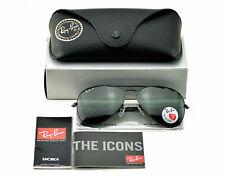 Ray-Ban RB3025 AVIATOR 002/58 Black Green Classic G15 Polarized Sunglasses 58mm