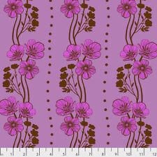 Triple Take - New Buttercups Free Spirit Cotton Quilt Fabric PWAM020  Plum
