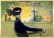 A3 SIZE - Vintage French Art Nouveau Shabby Chic 006 Retro Poster Print Art
