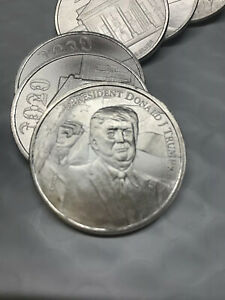 TRUMP 2020 1 OZ SILVER ROUNDS! BEAUTIFUL 9999 FINE ELECTION SPECIAL! BUY IT NOW!