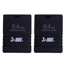64MB Video Game Memory Card for Sony Playstation 2 PS2 Console Storage - 2 pack
