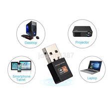 Wireless-AC Dual Band Wi-Fi Adapter AC600 USB LAN Dongle Adapter Hot US