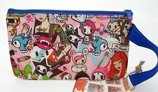 Tokidoki Cactus Friends Death Do Us Apart Cosmetic Pencil Zipper Pouch w/Strap