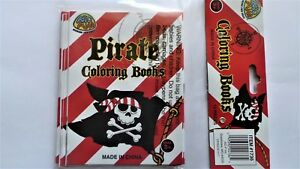 12 PIRATE Colouring Books kids birthday party favours