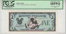 1987 $1 Mickey Disney Dollar PCGS 68PPQ First year Type 2 PROOF VERY RARE no ser