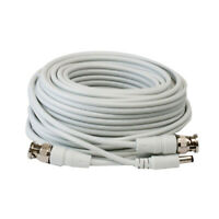 60ft RG59 Siamese Combo 20AWG Power Video SDI 95% Braid CCTV BNC Coaxial Cable