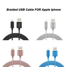 Braided Lightning USB Data Charger Lead Cables For Apple iPhone 6 5 7 Plus iPad
