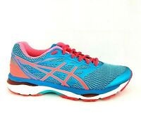 ASICS Gel Cumulus 18 Running Shoes Blue Orange T6C8N Women's US 9.5 EU 41.5 $120