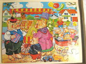 Victory Jig Saw Puzzle Age 4 - 6 42 Pieces Wooden Original Box