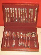 Godinger Silver 51 Piece Silverware Silver Plated Flatware Set & Wooden Case