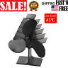 Wood Stove Fan Heat Powered Fireplace Log Burner Silent Eco-friendly Fan 3 Blade