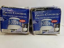 Intermatic K4536SST 105-305-Volt Solid State Locking Type w/ Timer LOT OF 2