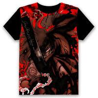 HELLSING Alucard Anime T-shirt Cosplay Short Sleeve Tops Tee Short Sleeve #K70