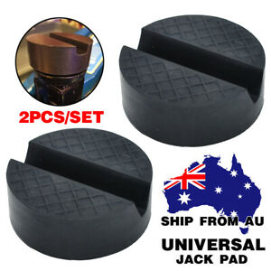 For Jacking Stands Slotted Rail Floor Jack Pad Rubber Disk Car Lift Adapter