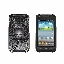 For Samsung Galaxy Rugby Pro i547 Protector Case Design Cover WING SKULL