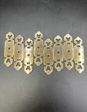 "Vintage Brass Backplates 3 1/4"" For Drawer Or Door Pulls Set Of 8 No Markings"