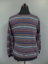 TOPMAN Red Blue Green Cotton Casual Fit Crewneck Men's Sweater Size L DD6828