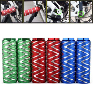 1 Pair MTB BMX Bike Alloy Foot Stunt Pegs Footrest Lever Cylinder Grip Axle n