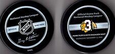11-12-2008 KEITH MAGNUSON-PIERRE PILOTE CHICAGO BLACKHAWKS NHL HOCKEY GAME PUCK