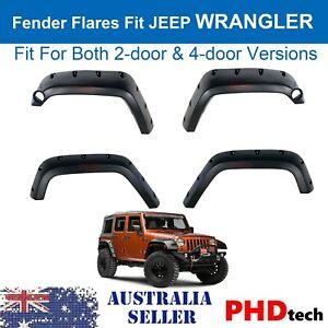 2007-2018 Jeep Wrangler JK Width Pocket Style Fender Flares FULL Set Kit