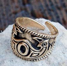 ODINS EYE Ring Bronze 60-70 Mittelalter Hugin u. Munin Wikingerring Wikinger Rus