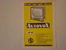 advertising Pubblicità 1958 TELEVISORE AUTOVOX TM 640